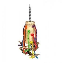 Vogelspeelgoed bamboe 48 x 24 x 24 cm