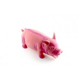 Latex varken roze met knor geluid 22 cm
