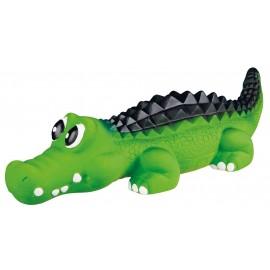 Latex krokodil met geluid 33 cm