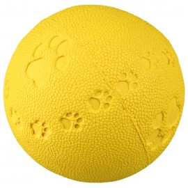 Speelbal natuurrubber 9 cm met geluid