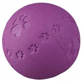 Speelbal natuurrubber 7 cm met geluid