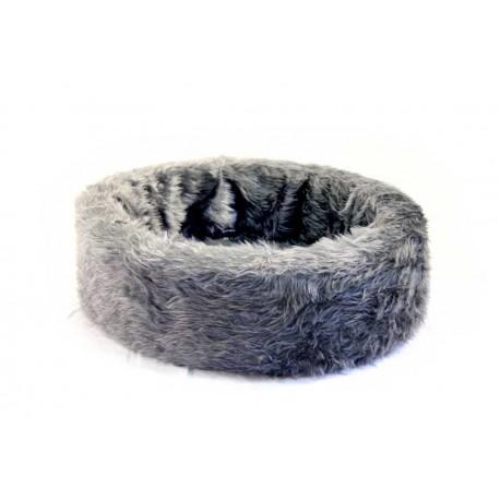 Pluche mand grijs 60 cm