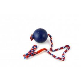 Rubber bal 8 cm met 60 cm touw