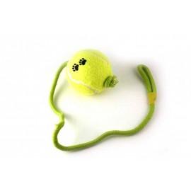 Tennisbal groot aan koord
